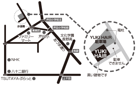 yuki-hair map